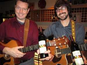 The Knutzen Brothers are one of the many fine acts that play the WINE BAR & EATERY