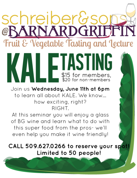 BG CC Photo Kale Food and Foodie, Fruit and Vegetable Tasting and Lecture