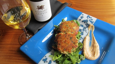 Barnard Griffin Wine Bar and Eatery Crab Cake Blue Plate Special
