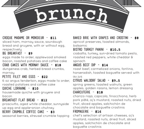 Barnard Griffin Wine Bar and Eatery Sunday Brunch