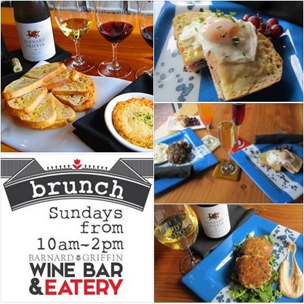 Barnard Griffin Wine Bar and Eatery Sunday Brunch 10a-2p featuring Mimosas and more!