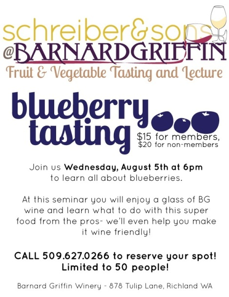 Barnard Griffin Blueberry Tasting